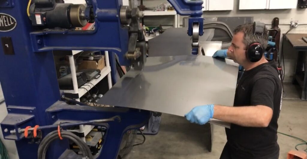 Metal shaping body panels
